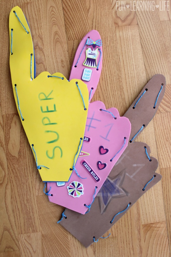 Examples of Homemade Sport's Foam Finger Craft