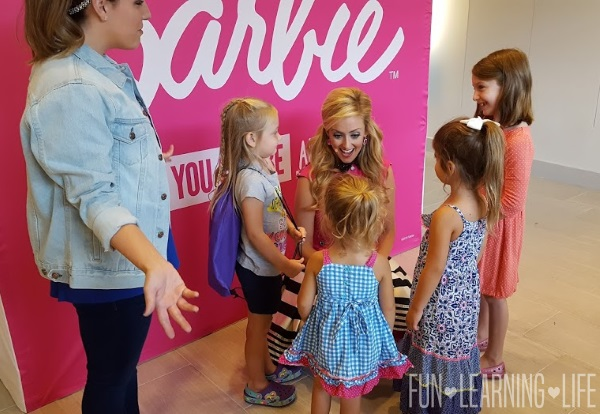 Speaking with Barbie at the Brandon Town Center Westfield Mall