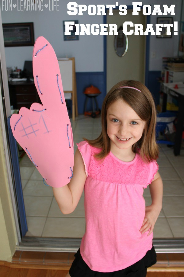 Sport's Foam Finger Craft