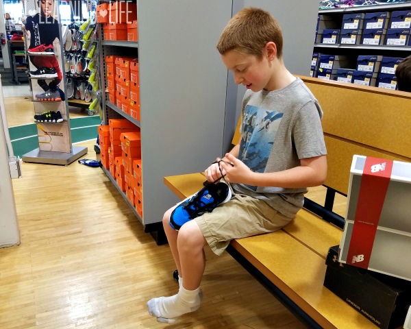 Trying on New Shoes for Kids at Dick's Sporting Goods