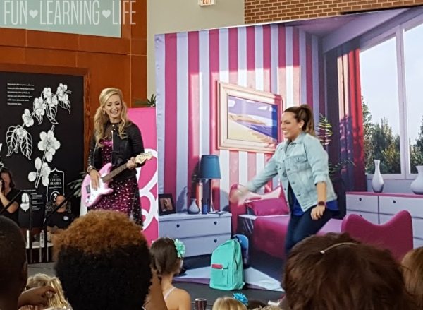 Watching Barbie sing and Dance at the Westfield Event.