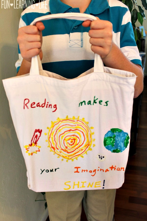Finished Library Book Bag Craft