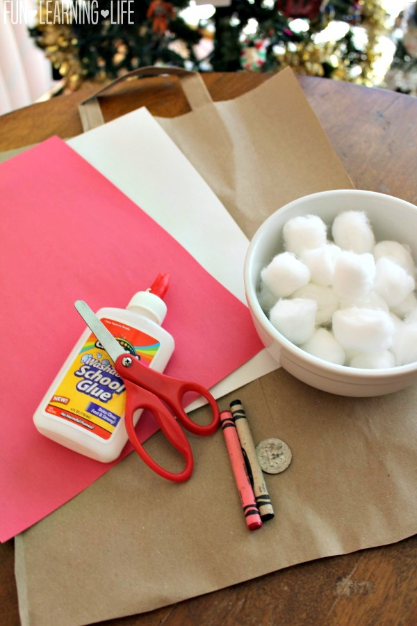 supplies-for-the-santa-calendar-craft