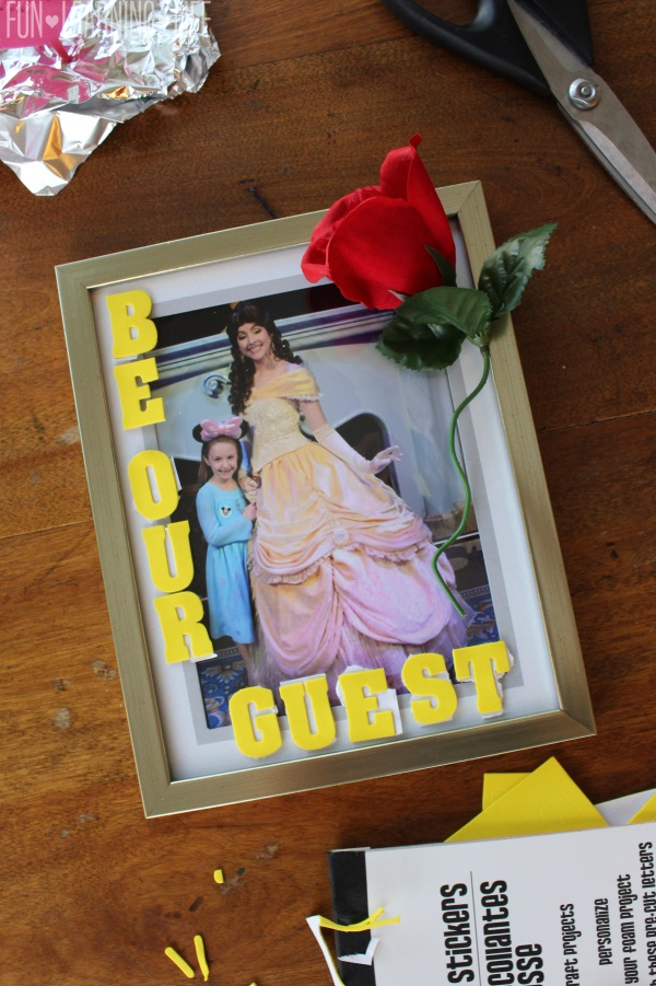 Beauty and the Beast Picture Frame Craft! - Fun Learning Life