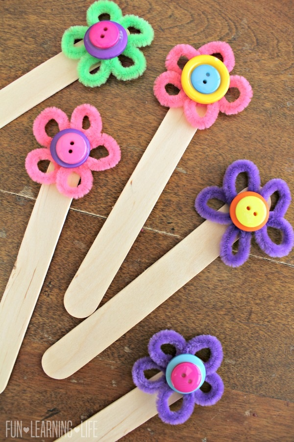 Flower Bookmark Craft, Colorful Way To Encourage Reading! - Fun Learning Life