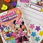 MINNIE'S HAPPY HELPERS DVD and Mouse Ears Button Magnets!
