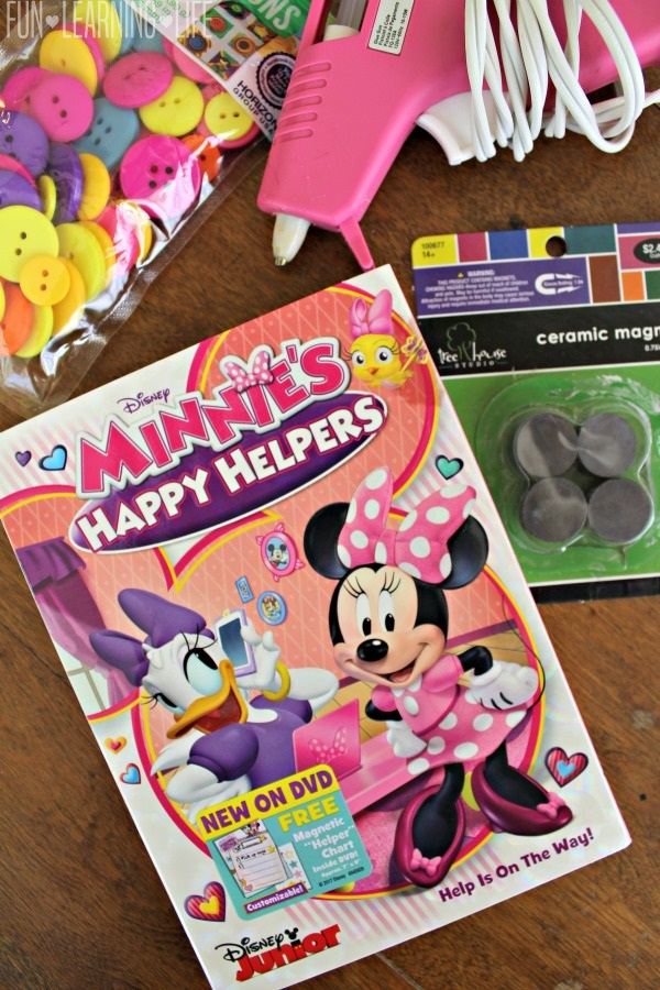 Minnie Mouse Ears Button Magnets