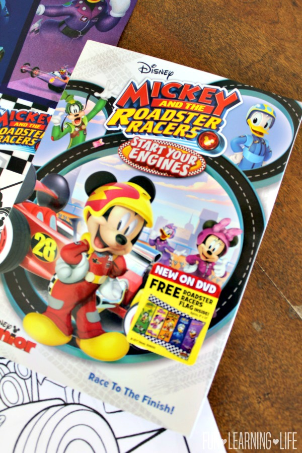 i hope your family enjoys this dvd and the entertaining mickey and the roadster racers coloring sheets