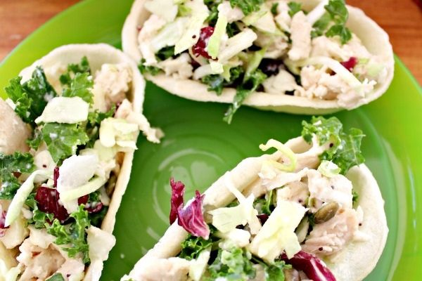 Apple and Chicken Salad Taco Boats Recipe!