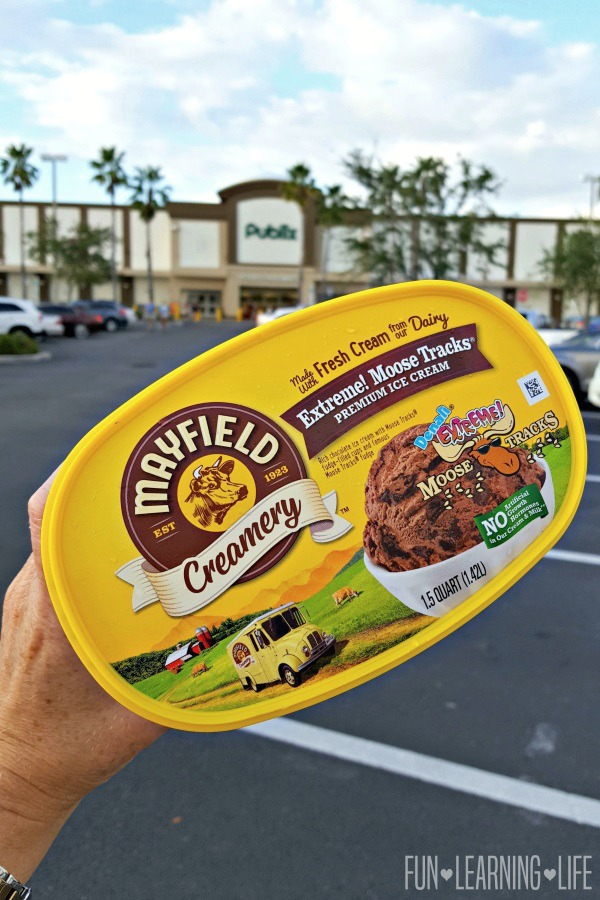 Finding Mayfield Creamery Extreme Moose Tracks Ice Cream at
