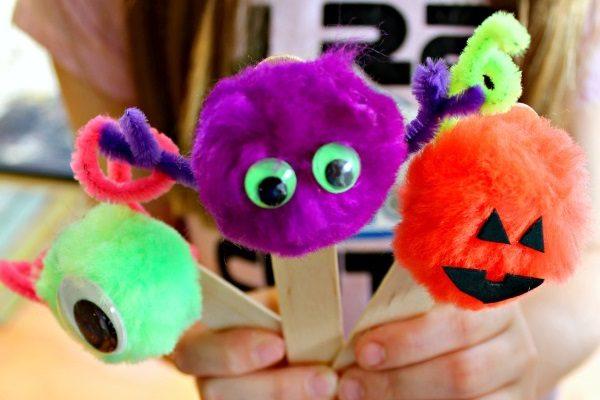 Monster Halloween Bookmarks Craft!