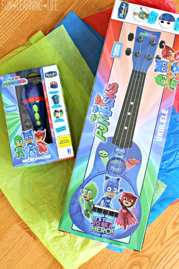 Hosting A Dance Party With Pj Masks Musical Instruments Fun