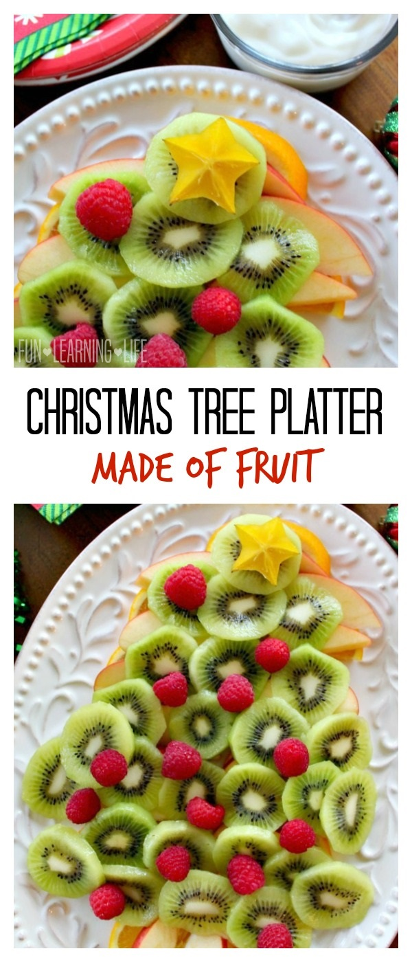 Christmas Tree Fruit Platter.Christmas Tree Platter Made Of Fruit For Better Holiday