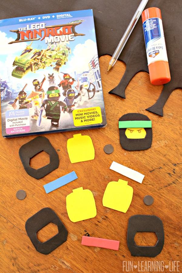 lego ninjago magnet craft inspired by the lego ninjago movie blu ray