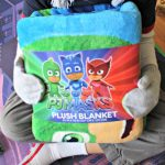 Keeping Warm With The PJ Masks Blanket As Well As Winter Hat and Glove Set!