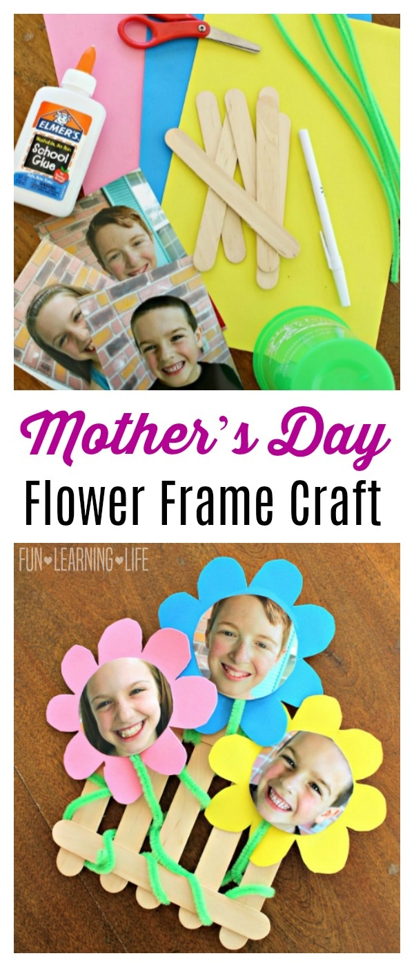 Flower Frame Craft That Looks Like A Picket Fence! - Fun Learning Life