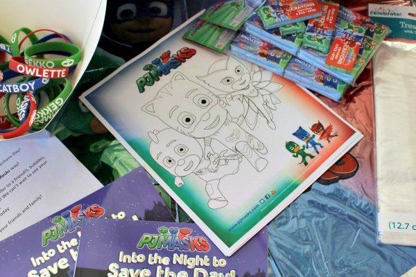 PJ Masks Goody Bags Idea and Printable Coloring Sheet!