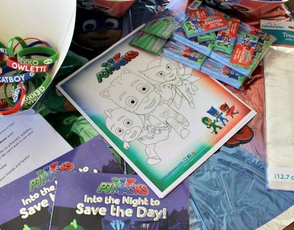 PJ Masks Goody Bags Idea and Printable Coloring Sheet!