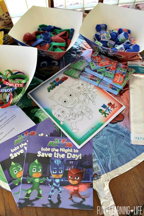 Pj Masks Goody Bags Idea And Printable Coloring Sheet Fun