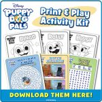 Disney Puppy Dog Pals DVD Now Available! Plus Bingo and Rolly Coloring Sheets!