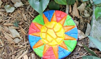 Painting Creative Roots Mosaic Stepping Stones To Brighten Up Our Yard!