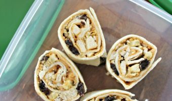 Peanut Butter and Dried Fruit Pinwheels Recipe Supporting the Power Your Lunchbox Promise!