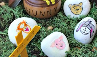 Winnie The Pooh Rock Decorating and CHRISTOPHER ROBIN Coloring Sheets!