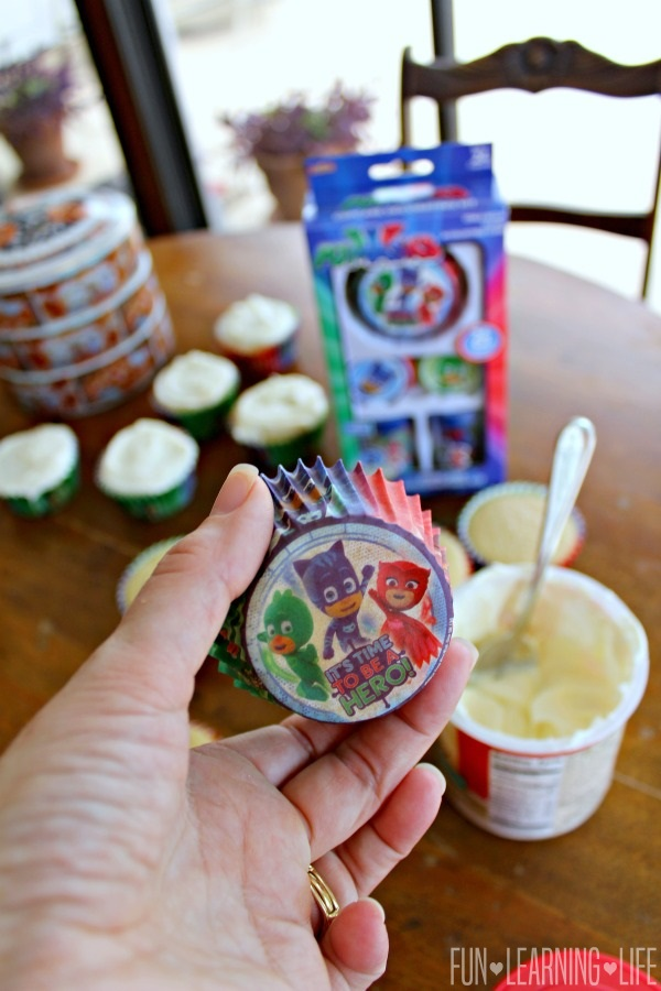 Easy Pj Masks Cupcakes To Celebrate Heading Back To School