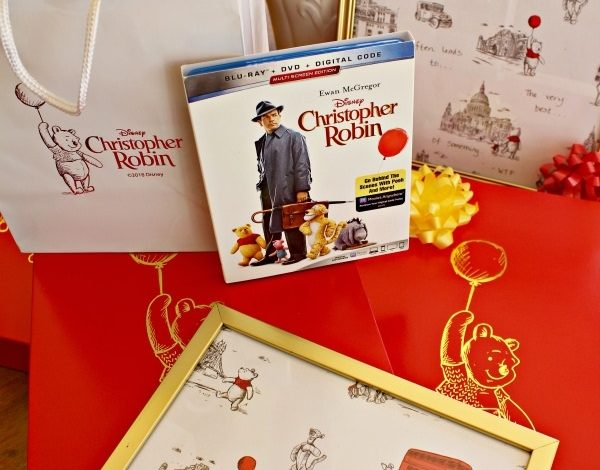 Disney Christopher Robin On Blu-ray and DVD! Plus Winnie The Pooh Wrapping Paper Photo Frames!