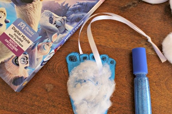 Yeti Foot Ornament Craft To Celebrate SMALLFOOT THE MOVIE on Blu-ray! {Giveaway}