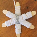 Snowflake Ornament Made With Craft Sticks!
