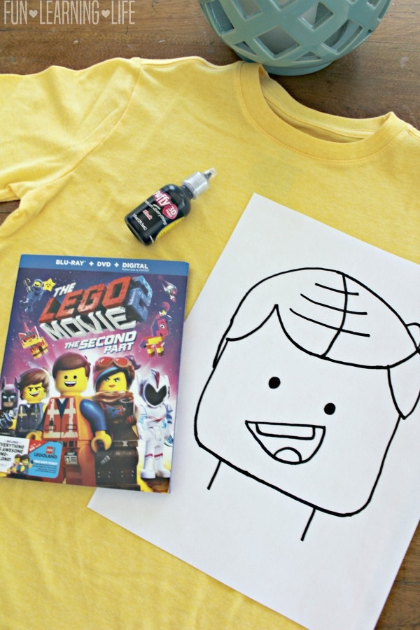 Making a LEGO Minifigure Emmet Shirt Inspired by The LEGO Movie 2