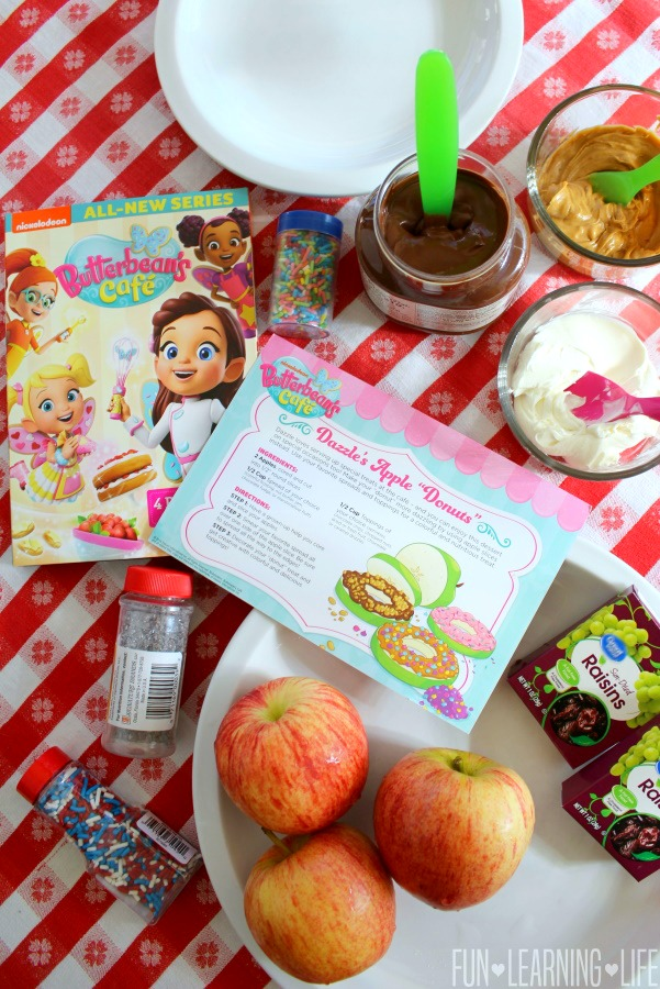 Butterbean's Cafe DVD with Apple Donuts and Butterfly Recipe Cards!