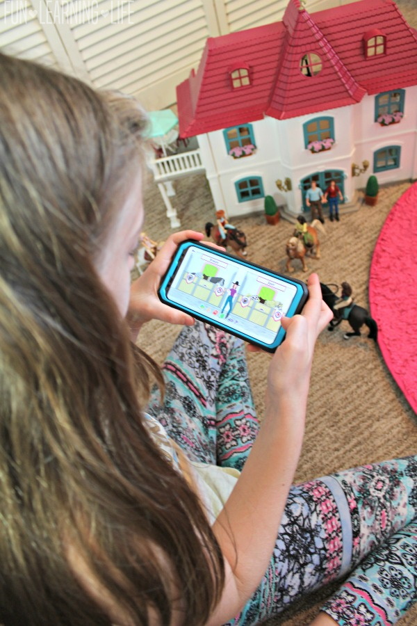 Playing and Learning With Schleich Horse Club Horse Adventure App and Toys