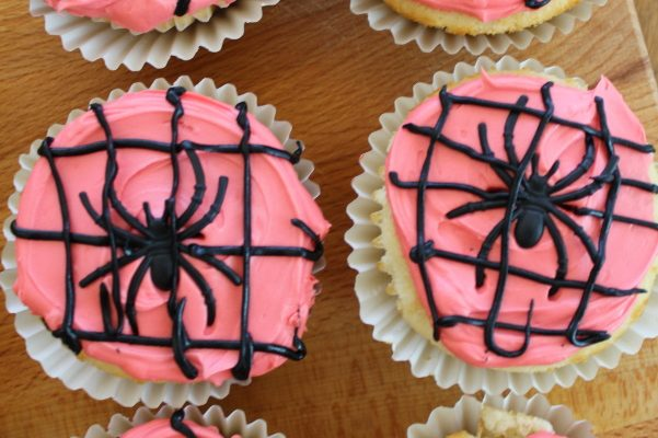 Radioactive Spider Cupcakes and Spider-Man: Far From Home Blu-ray Combo Pack!