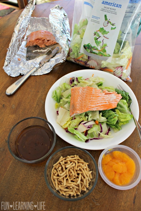 Asian Inspired Cold Salmon Salad Recipe!
