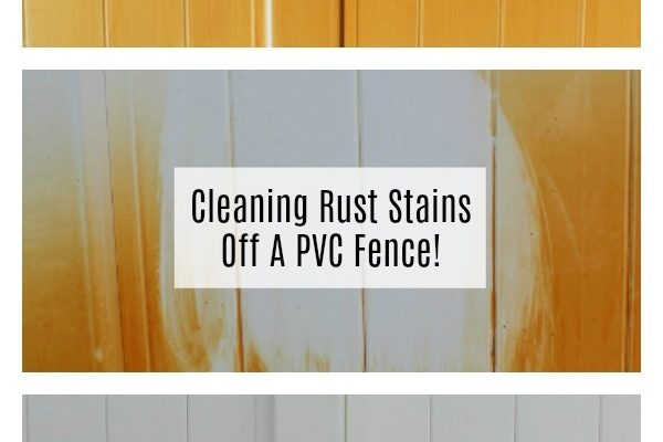Cleaning Rust Stains Off A PVC Fence!