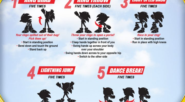 Workout For Kids from Sonic the Hedgehog! {Digital Giveaway}