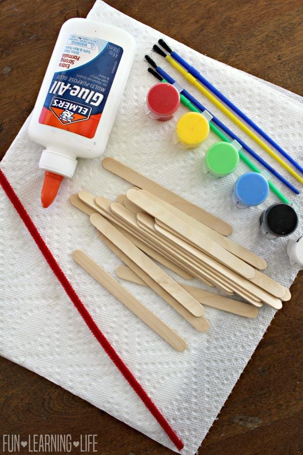 Superhero Craft Stick Art