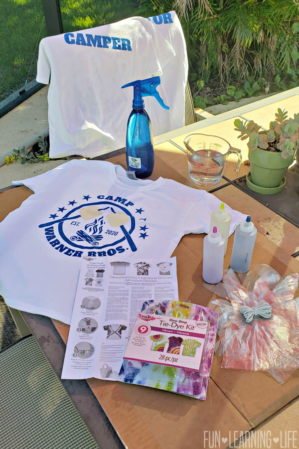 Tips To Tie-Dyeing Shirts for Summer Camp At Home!