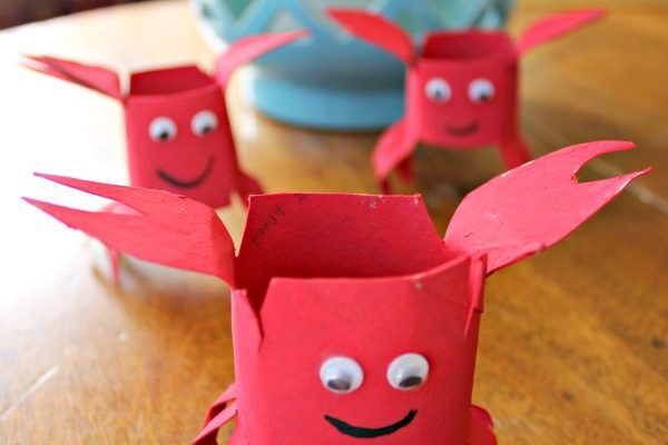 Toilet Paper Roll Crab Inspired By Bubble Guppies!