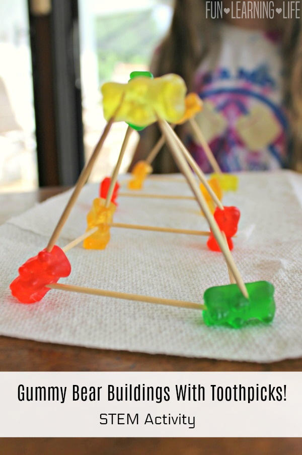 Gummy Bear Buildings With Toothpicks!