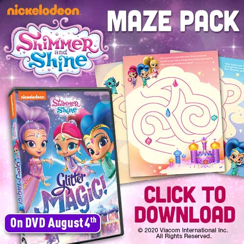 Shimmer and Shine Blaze and the Monster Machines Printable Activity Packs