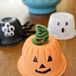 Upcycled Fruit Cups Halloween Craft!