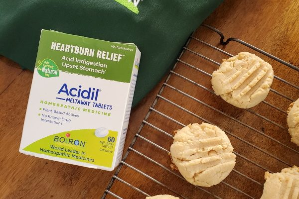 Double Peanut Butter Cookies and Boiron Acidil Meltaway Tablets!