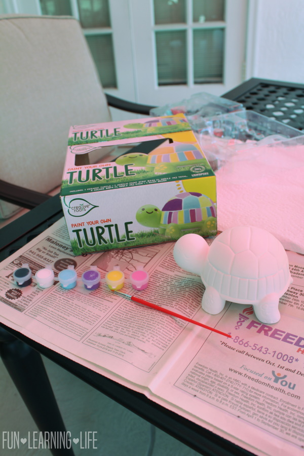 Creative Roots Paint Your Own Turtle Craft