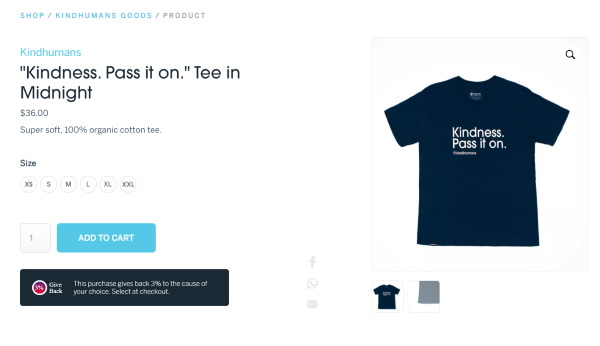 Kindness Pass It On T Shirt from Kindhumans!