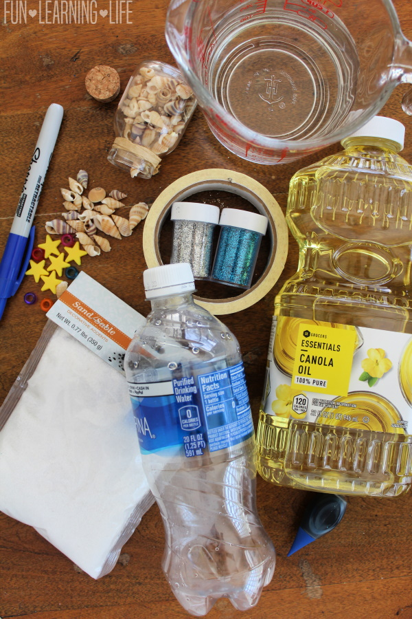 Seashell Craft with Water Bottle STEM Activity!