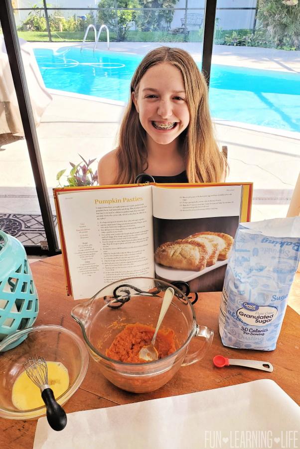 Pumpkin Pasties In The Unofficial Hogwarts Cookbook for Kids!